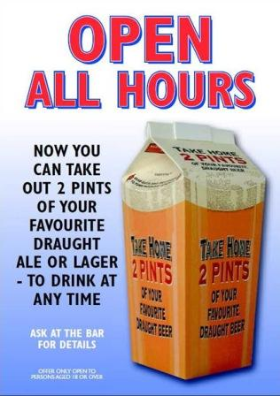 2 Pint take home carton
